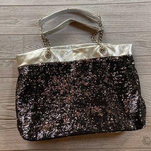 Black & Sequin Tote Bag |